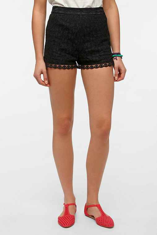 Pins And Needles Lace Zip-Back Short