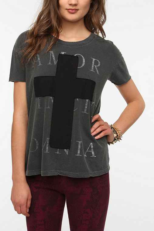 Truly Madly Deeply Patched Cross Tee