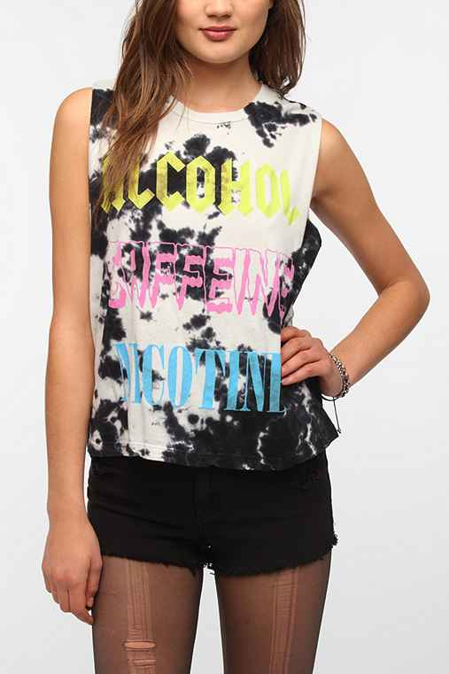 Truly Madly Deeply Alcohol Caffeine Nicotine Muscle Tee