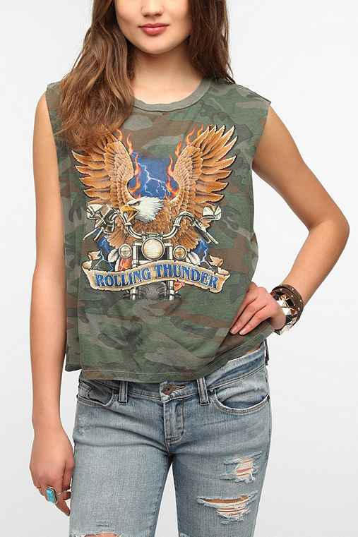 Truly Madly Deeply Rolling Thunder Muscle Tee