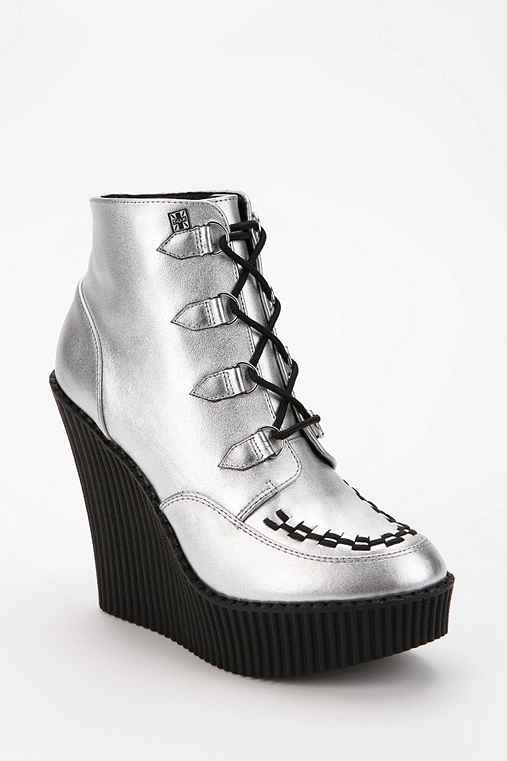 T.U.K. Lace-Up Platform Creeper Boot
