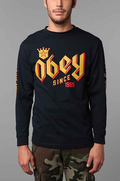 OBEY Bar King Long-Sleeve Tee