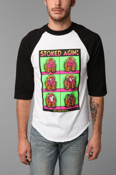 Dark Seas Stoked Again Raglan Tee