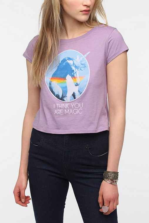 Corner Shop Magical Unicorn Cropped Tee