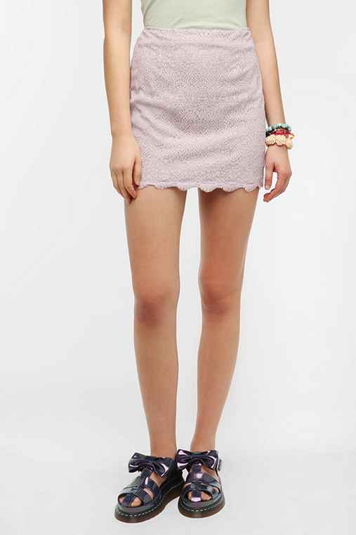 Pins And Needles Fitted Lace Mini Skirt