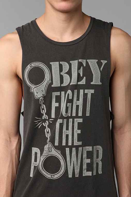 OBEY Fight The Power Muscle Tank Top