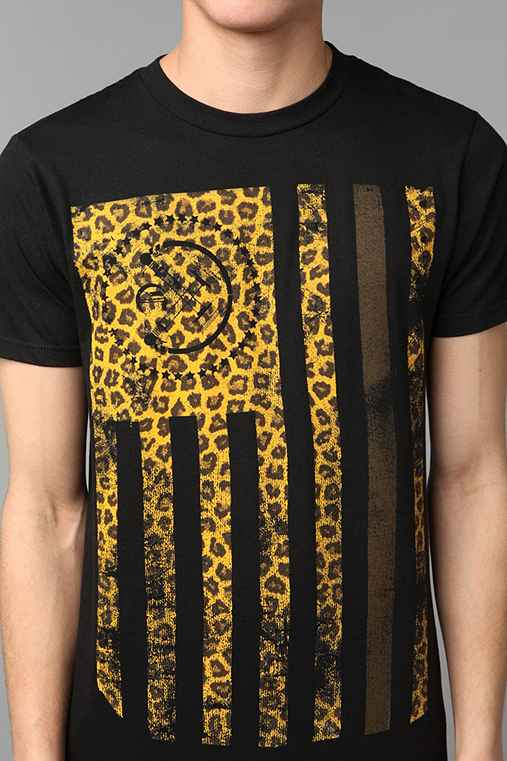 Civil Leopard Flag Tee