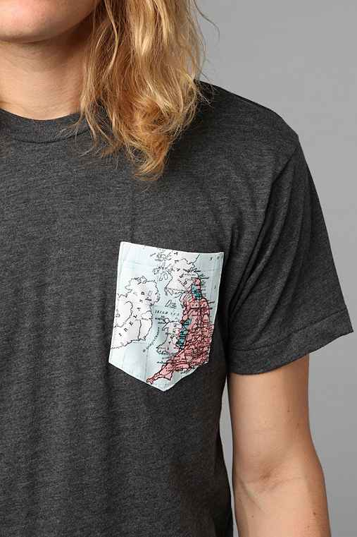 Irish Sea Map Pocket Tee