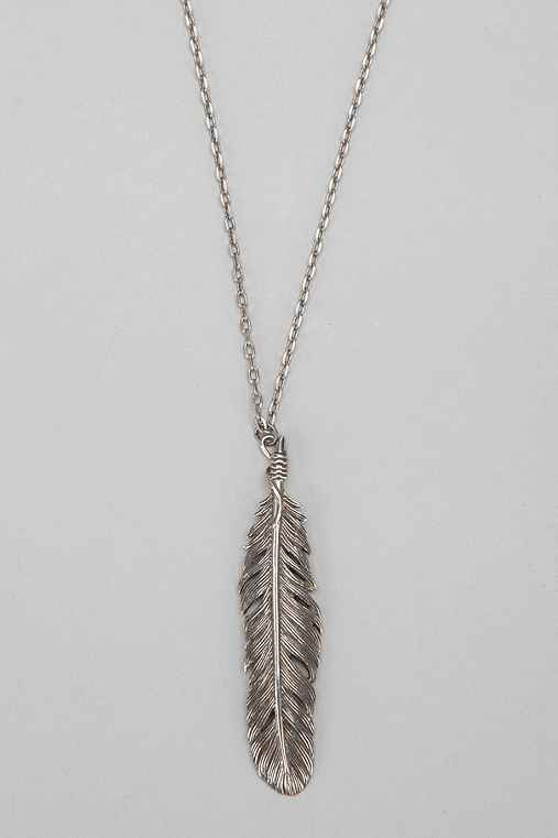 Beneath the Roses Feather Necklace