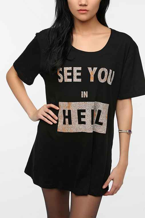 Feather Hearts See You In Hell Tee