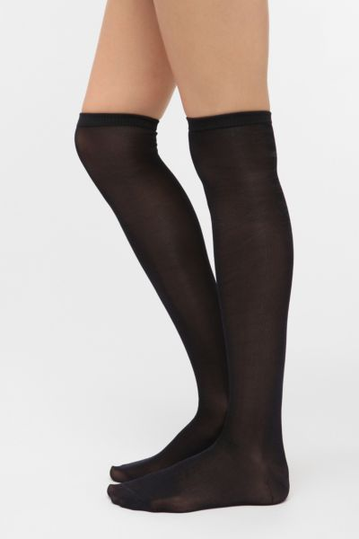 Solid Sheen Over-The-Knee Sock