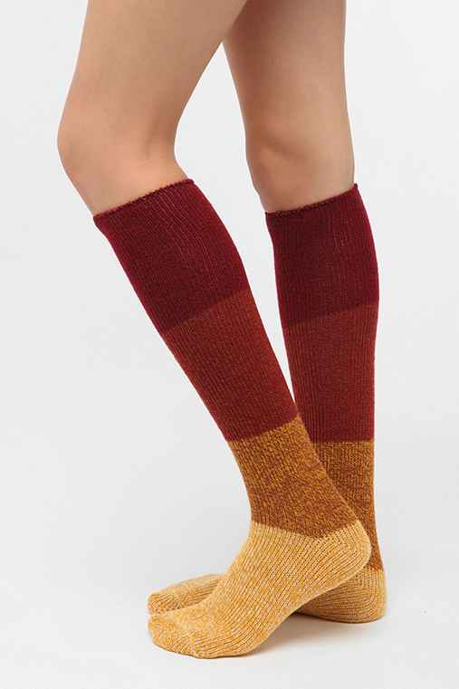 Marled Colorblock Knee-High Sock
