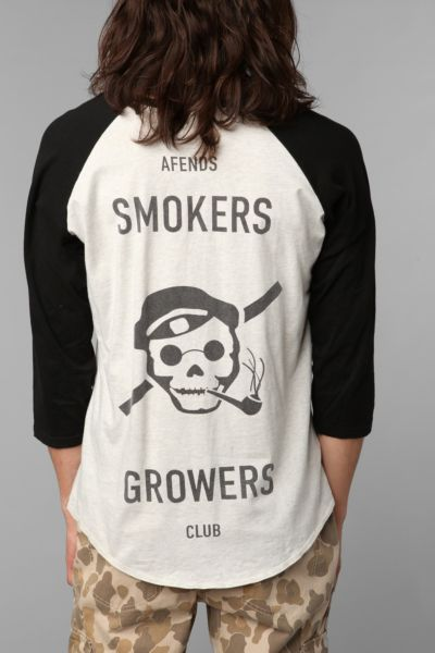 Afends Smokers And Growers Raglan Tee