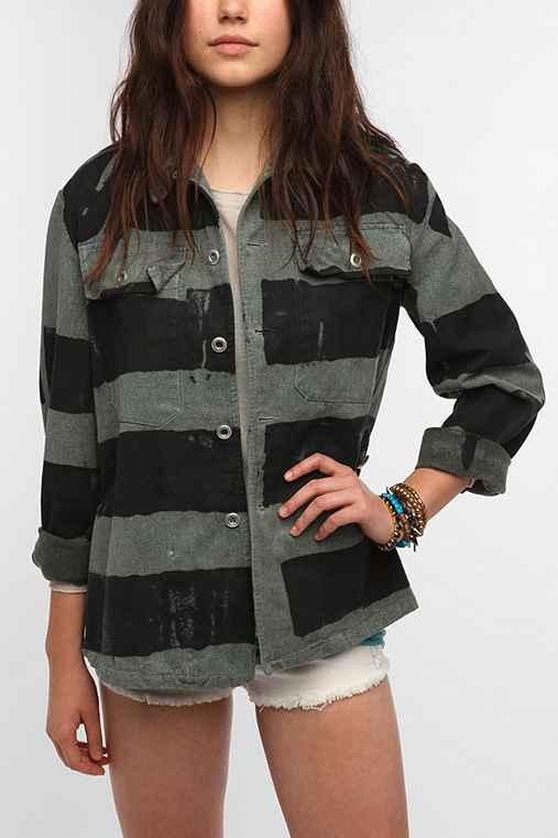 Urban Renewal Swiss Striped Jacket