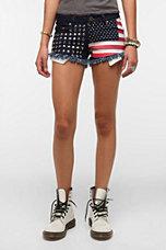 Reverse Americana Studded Denim Short