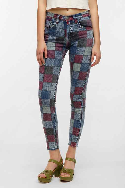 Ziggy Sticks & Bones Mid-Rise Skinny Jean - Checkerboard