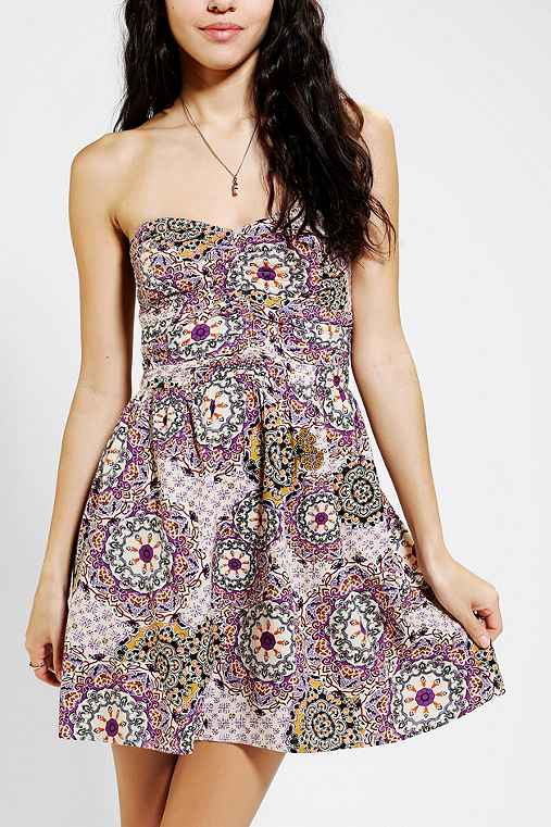 Band Of Gypsies Strapless Dress