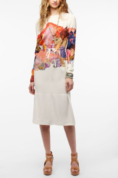 TBA Lydia Silk Midi Dress