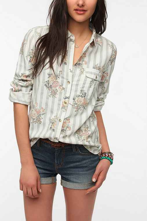 BDG Classic Printed Oxford Button-Down Shirt
