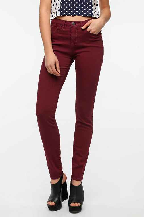 BDG Cigarette High Rise Jean - Burgundy