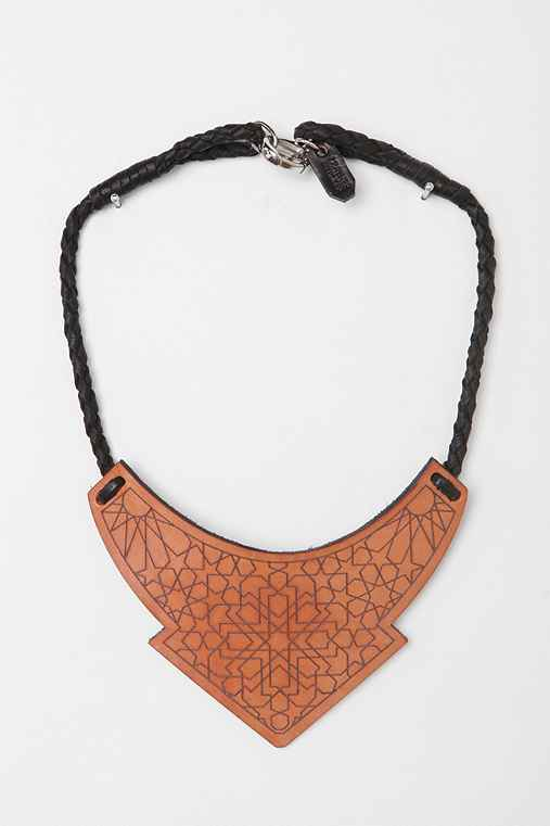 The Leather Atelier Plate Necklace
