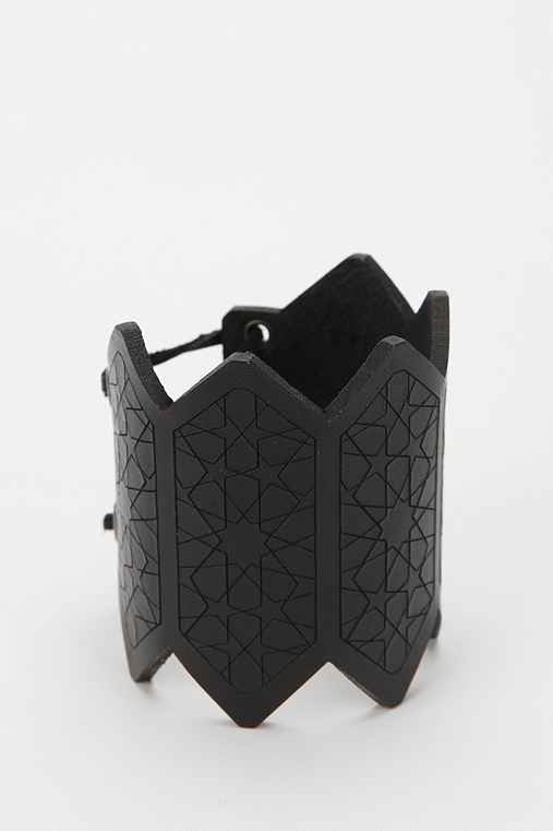 The Leather Atelier Geo Cuff Bracelet