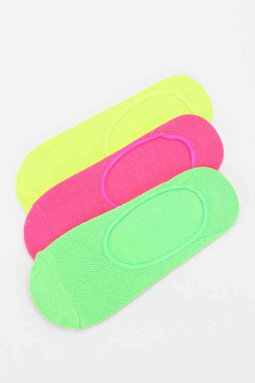 Highlighter No-Show Sock - Pack Of 3
