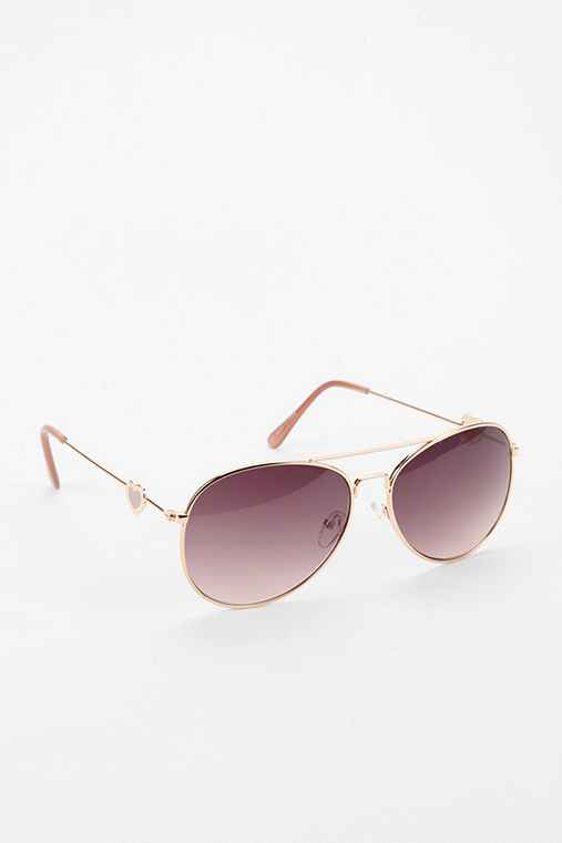 Hearts Aviator Sunglasses