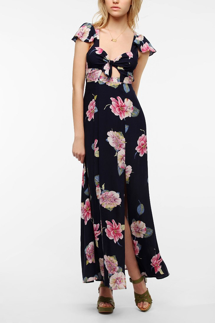 Reformed By The Reformation Flora & Fauna Maxi Dress - Urban ...