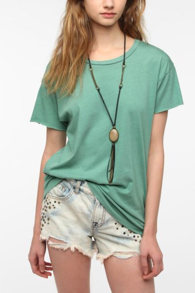 Truly Madly Deeply Cut Sleeve Boyfriend Tee