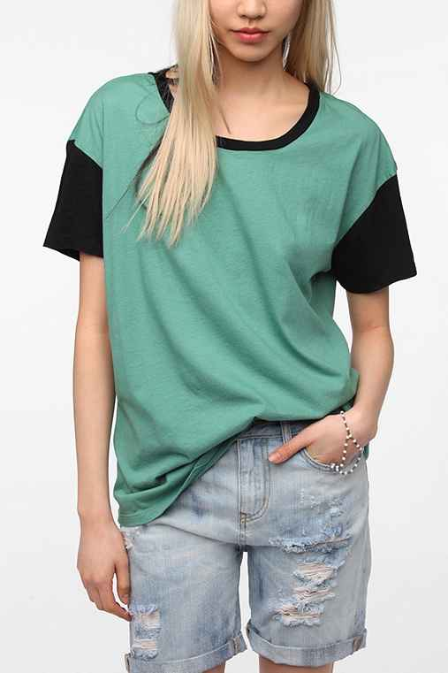 Truly Madly Deeply Oversized Boyfriend Colorblock Tee
