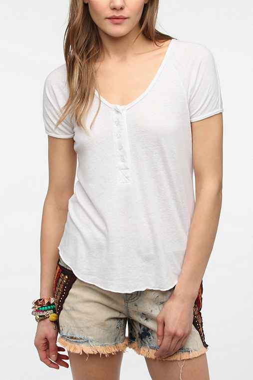 Truly Madly Deeply Short Sleeve Henley Tee