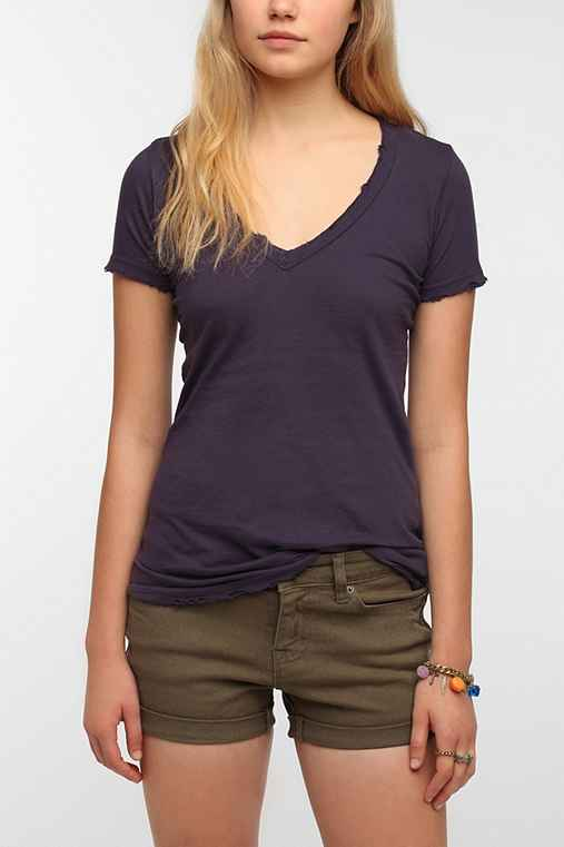 Truly Madly Deeply Basic V-Neck Tee