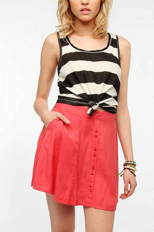 BDG Striped Racerback Tank Top