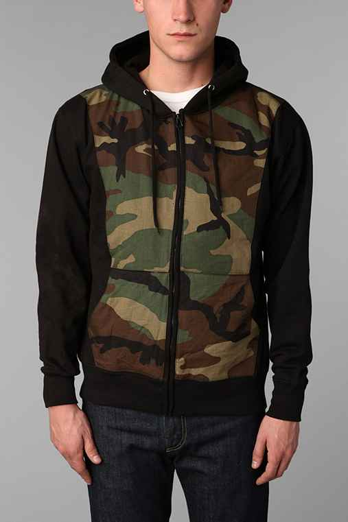 FAIF X Urban Renewal Camo Zip-Up Hoodie Sweatshirt