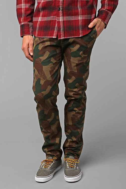 Koto Brush Stroke Camo Chino: Brown Multi 30/32 M app pants