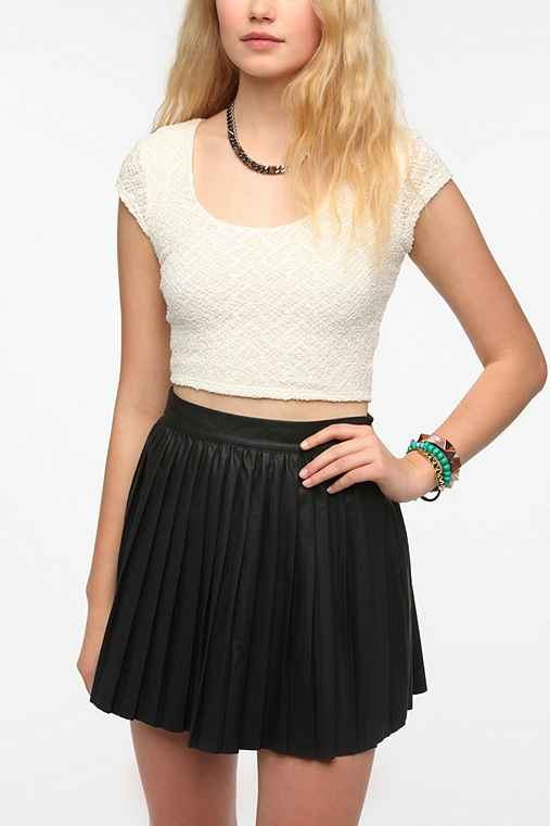 Sparkle & Fade Textured Cropped Top