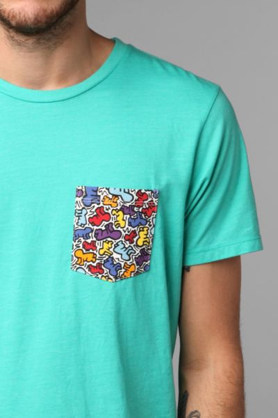Junk Food Keith Haring Pocket Tee