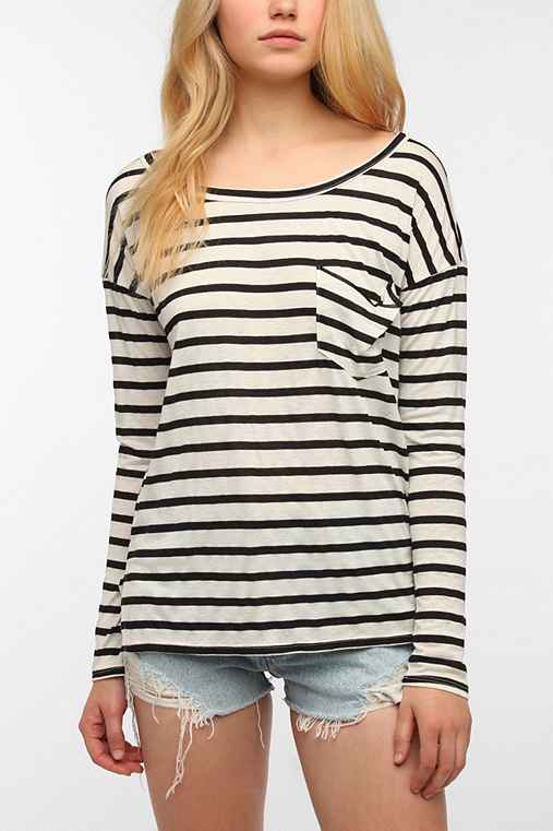 Daydreamer LA Striped Drape Top