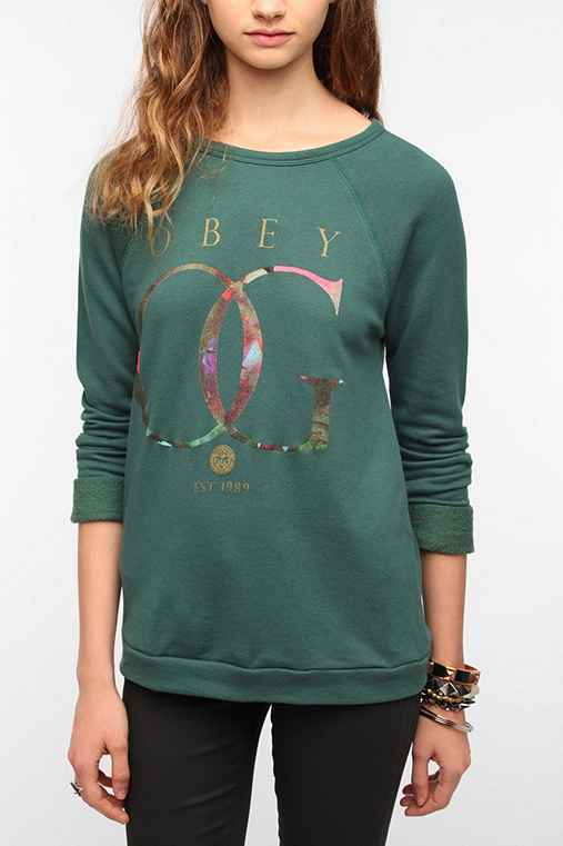 OBEY OG Gold Rose Sweatshirt