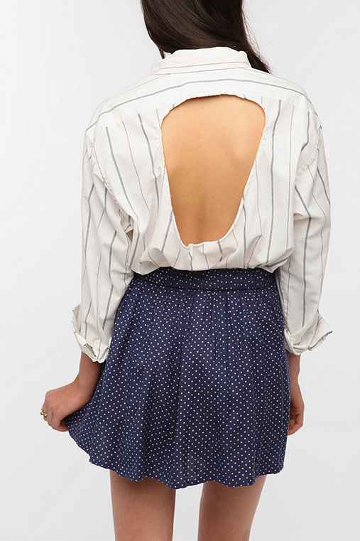 Urban Renewal Cut Out Back Oxford Shirt
