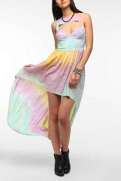 This Is A Love Song Tie-Dye Bustier Maxi Dress