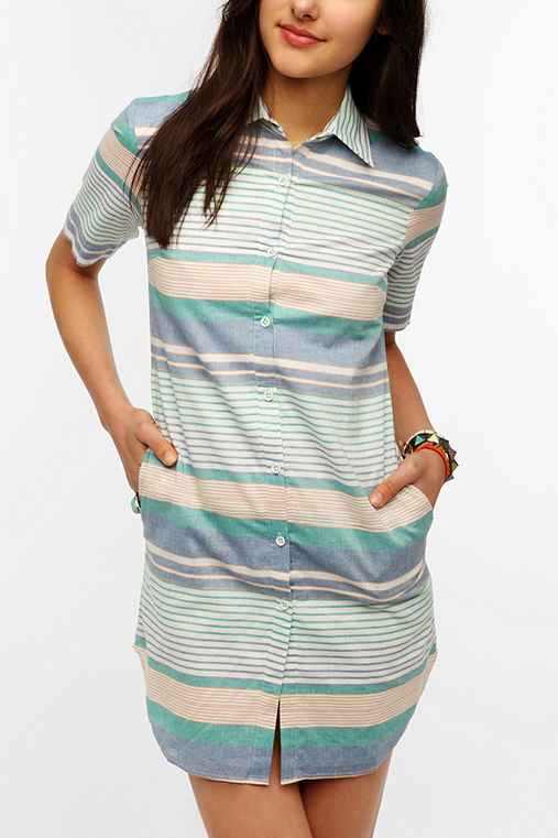 Super National Striped Shirtdress