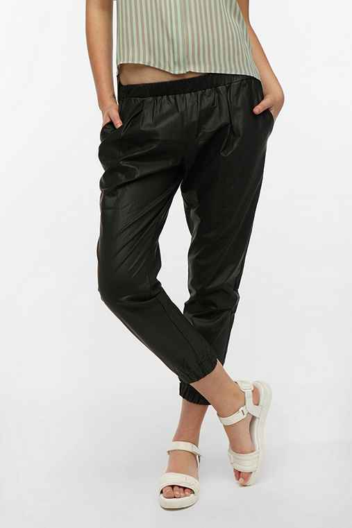 Sparkle & Fade Vegan Leather Pull-On Pant