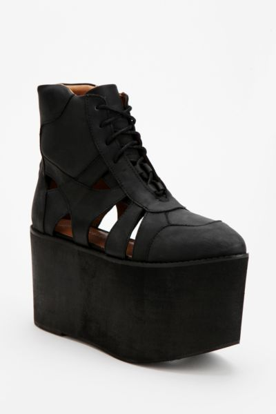 Jeffrey Campbell Stein Extreme High-Top Flatform-Sneaker