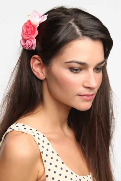 Rose Bouquet Hair Clip
