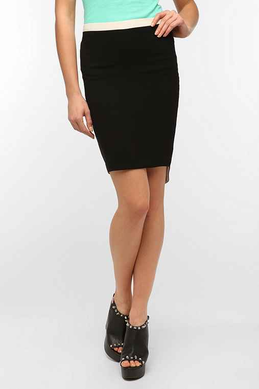 Costa Blanca Two-Tone High/Low Skirt