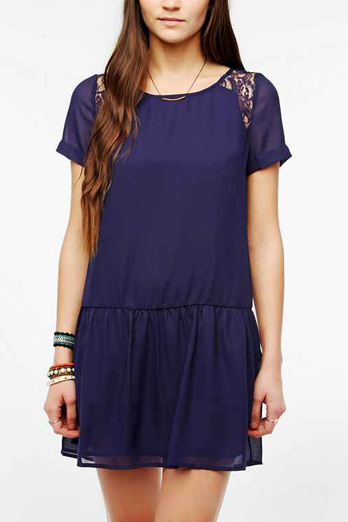Coincidence & Chance Lace Inset Drop-Waist Dress