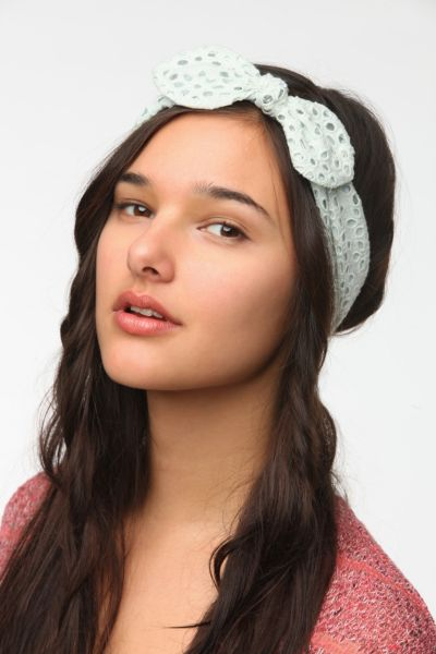Eyelet Bow Headwrap