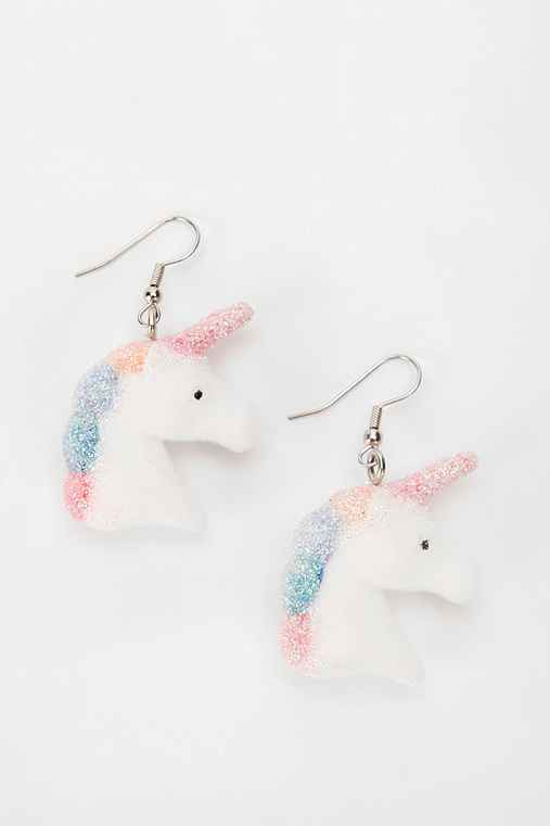 Urban Renewal Fuzzy Unicorn Earring